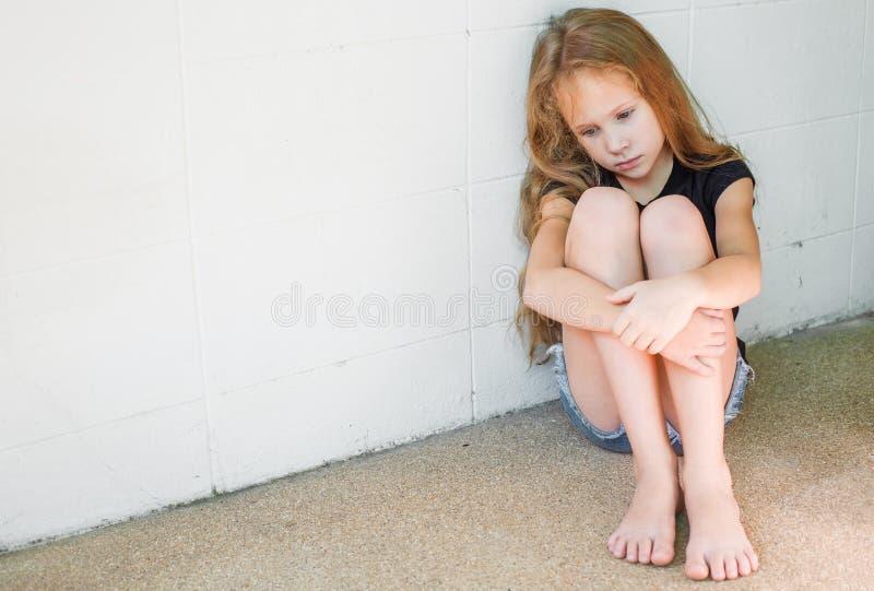 Droevig meisje royalty-vrije stock foto's
