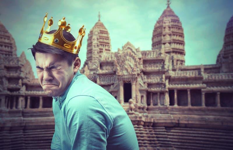 Droevige prins royalty-vrije stock foto