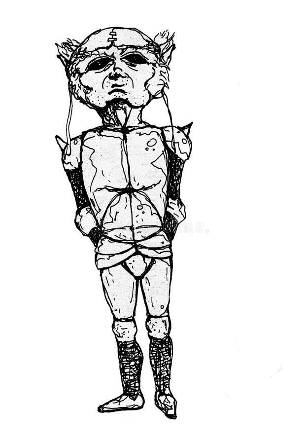 Droevige ridder royalty-vrije illustratie