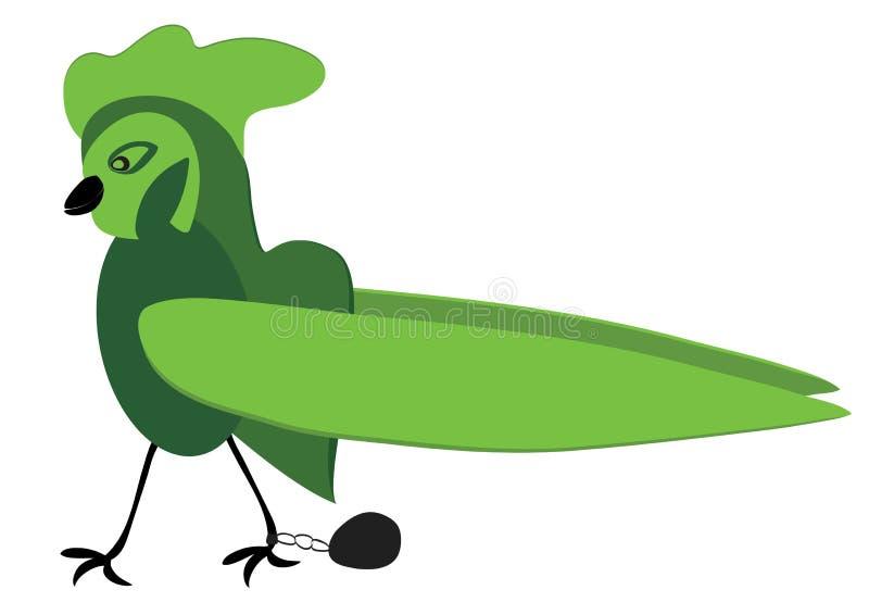 Droevige vogel royalty-vrije illustratie