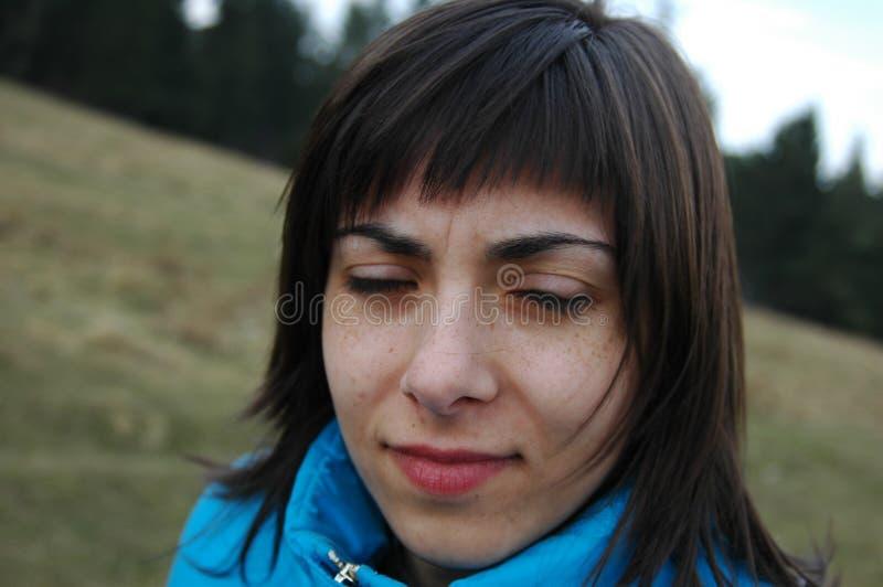 Droevige vrouw stock fotografie