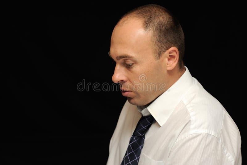 Droevige zakenman stock afbeeldingen