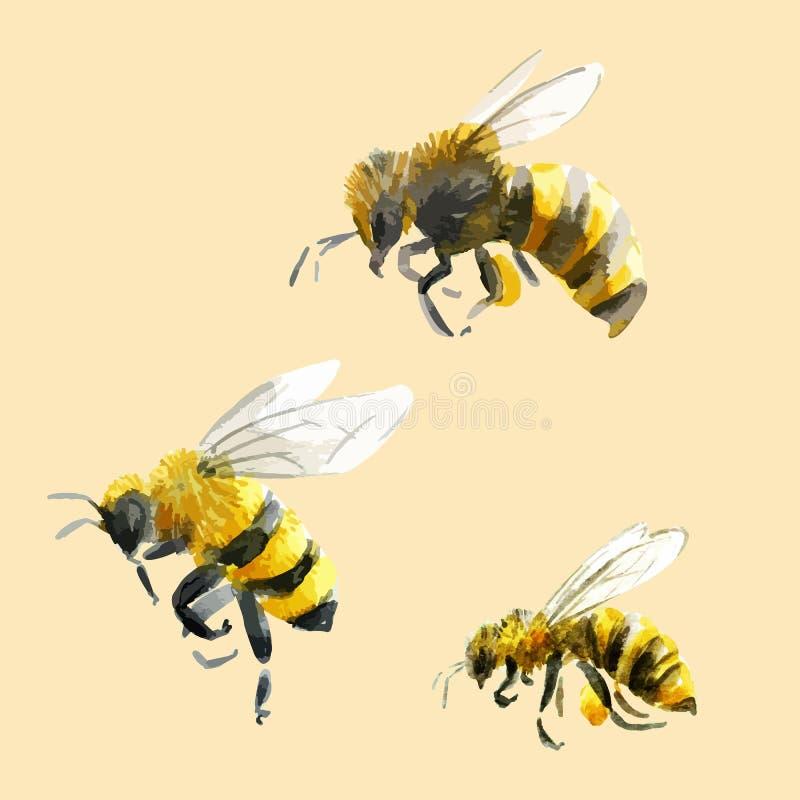 Drog bin för vattenfärg hand vektor illustrationer