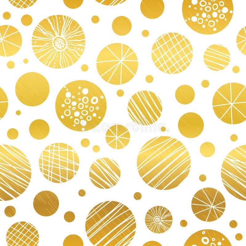 Drog christmassprydnader för vektor upprepar den abstrakta guld- gula handen sömlös modellbakgrund Kan användas för tyg royaltyfri illustrationer