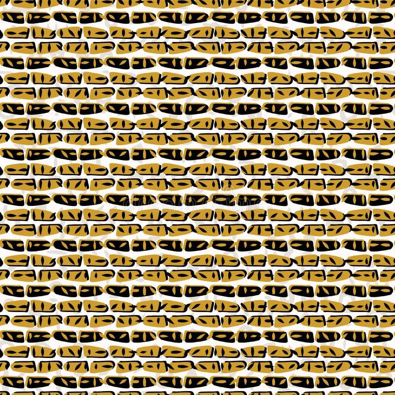 Drog kryptiska symboler för guling och för svart abstrakt begrepp royaltyfri illustrationer