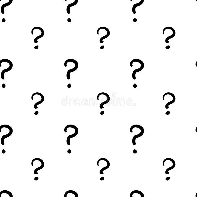 Drog sömlösa modellen för frågefläck den hand stock illustrationer
