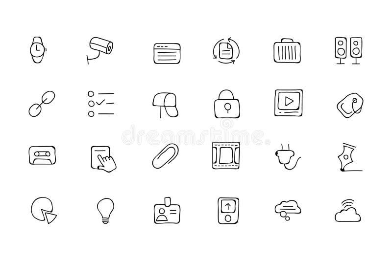 Drog vektorsymboler 3 för kommunikation hand royaltyfri illustrationer