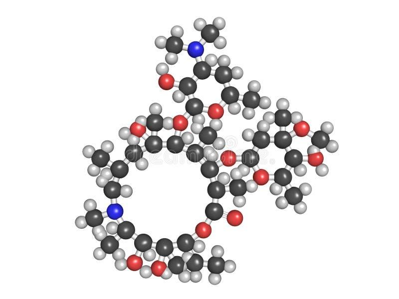 Droga antibiótico del Azithromycin (clase del macrólido) ilustración del vector
