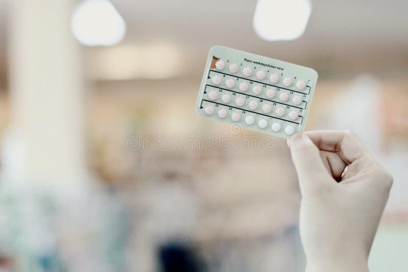 droga anticonceptiva foto de archivo
