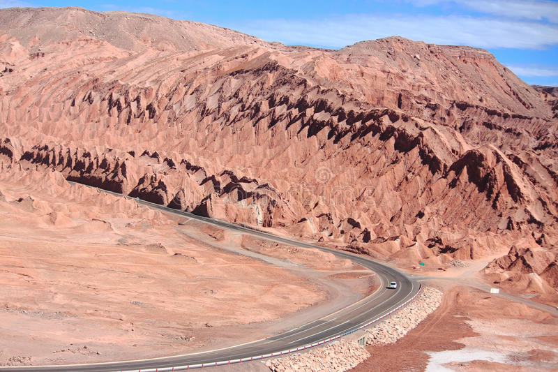 Droga blisko San Pedro De Atacama (Chile) fotografia stock