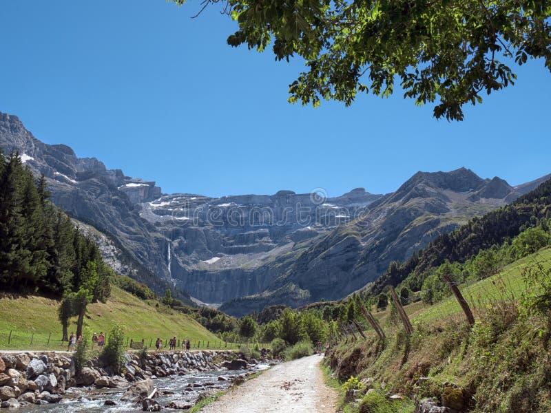 Droga Cirque De Gavarnie, Pyrenees, Francja zdjęcia stock