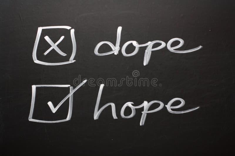Droga de la esperanza no fotos de archivo