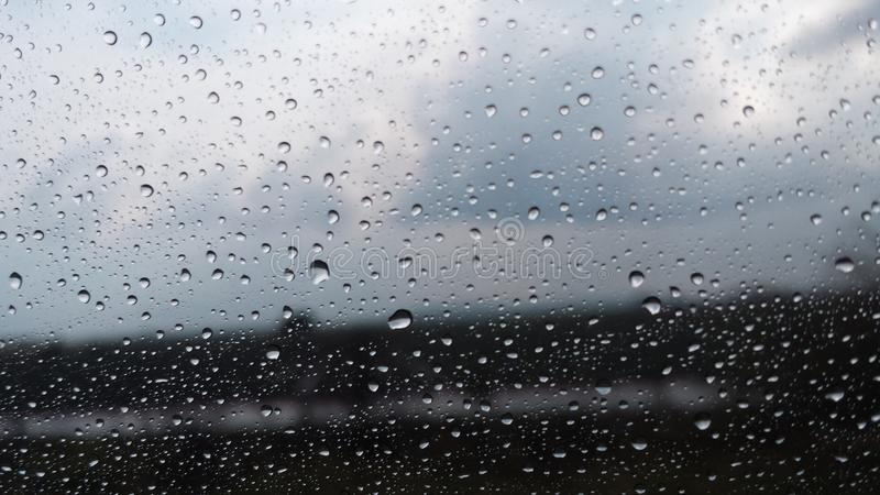 Droga deszcz fotografia stock