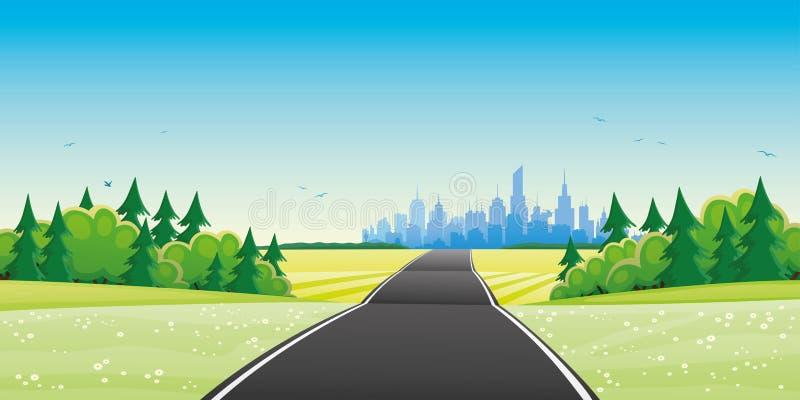 droga do miasta ilustracja wektor