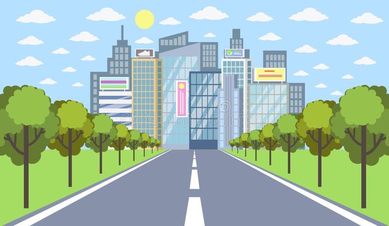 droga do miasta wektora ilustracji