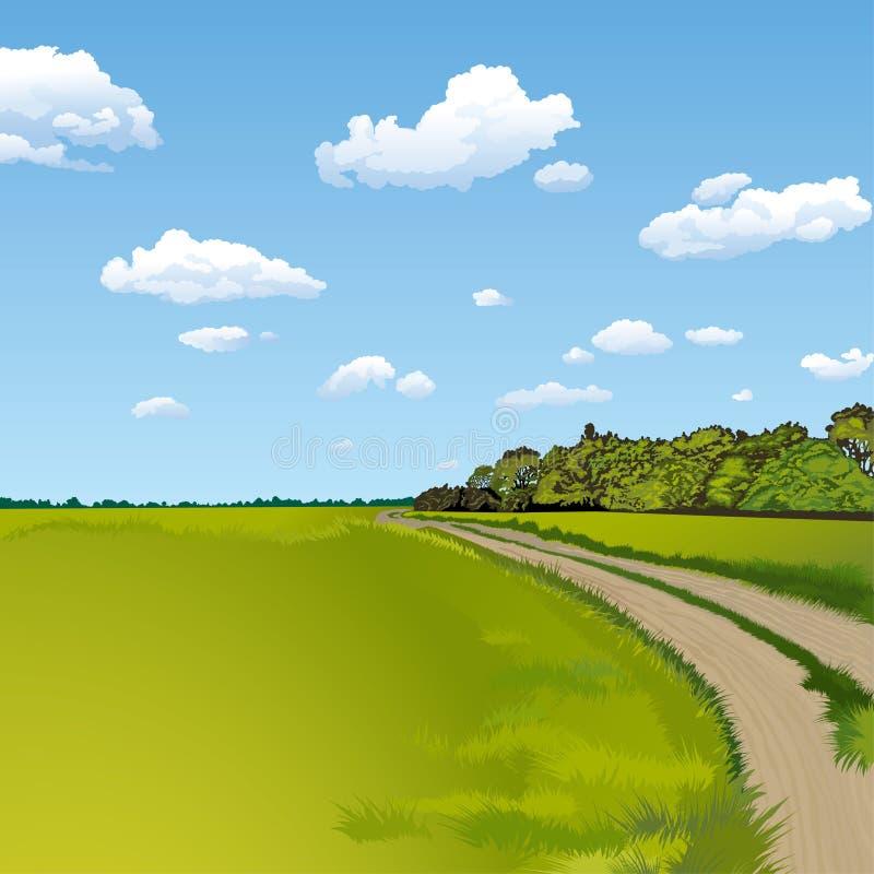 droga do wsi, ilustracji