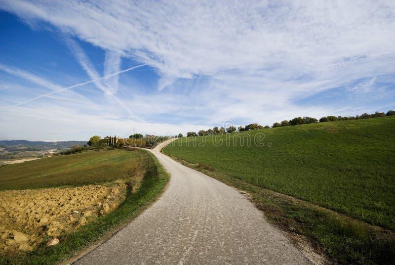 droga do wsi Umbria obrazy royalty free