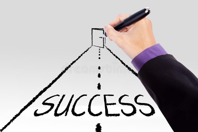 Droga dostawać sukcesu drzwi obraz royalty free