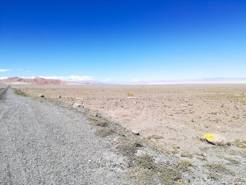Droga flaming naturalna rezerwa, Chile obraz stock