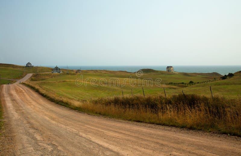 Droga gruntowa morze w Magdalen wyspie obraz royalty free