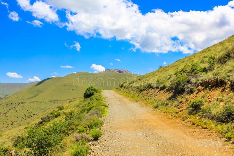 Droga gruntowa w Halnej zebry parku narodowym, Południowa Afryka obrazy royalty free