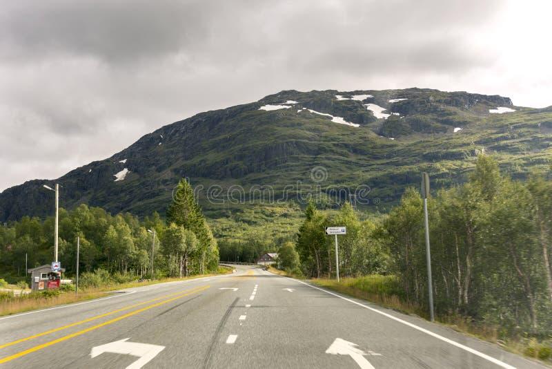 Droga Haugesund w Norwegia zdjęcia royalty free