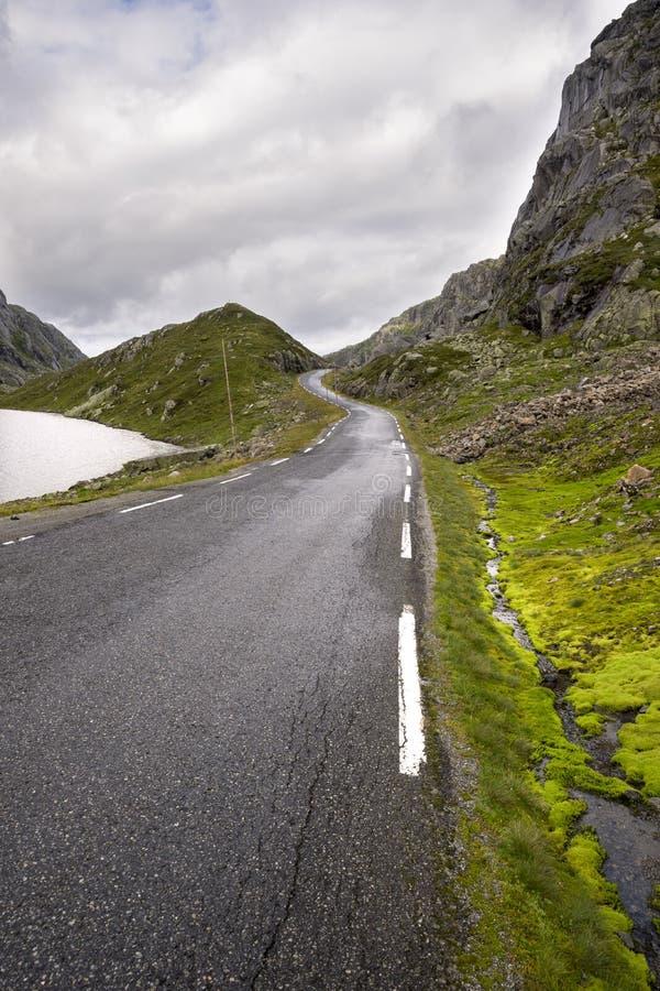 Droga Haugesund w Norwegia obrazy royalty free