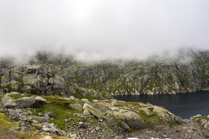Droga Haugesund w Norwegia obraz royalty free