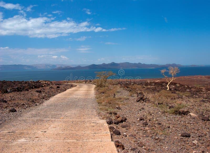Droga jezioro, Kenja fotografia royalty free