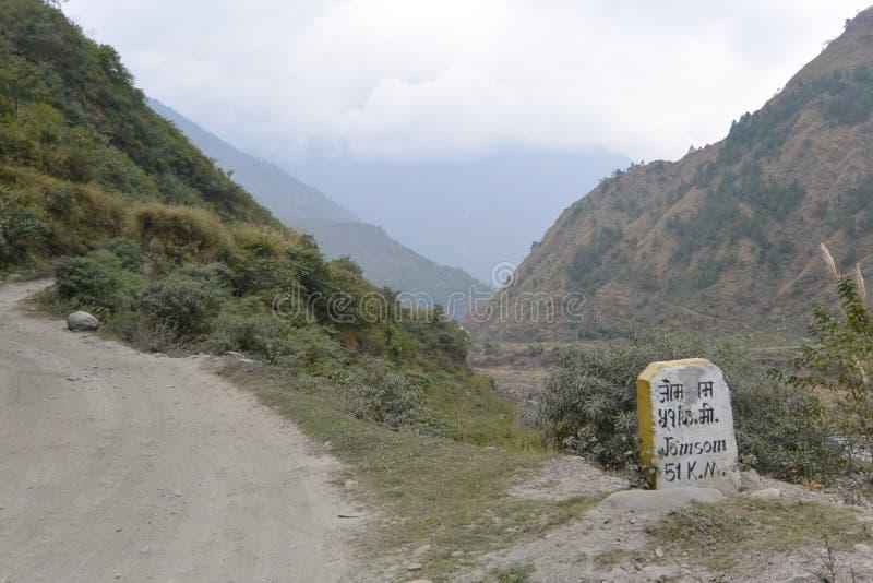 Droga Jomson, Nepal obraz stock