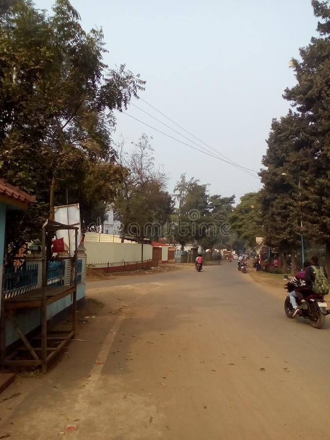 Droga kharidy to Girimaidan Kharagpur West Midnapore West Bengal India zdjęcie royalty free