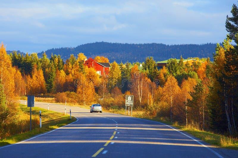 Droga Lapland w Finlandia zdjęcia stock