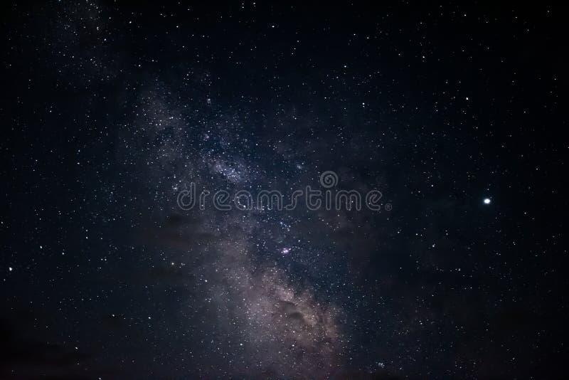 Droga Mleczna w nocy gwiaździstym niebie obrazy stock