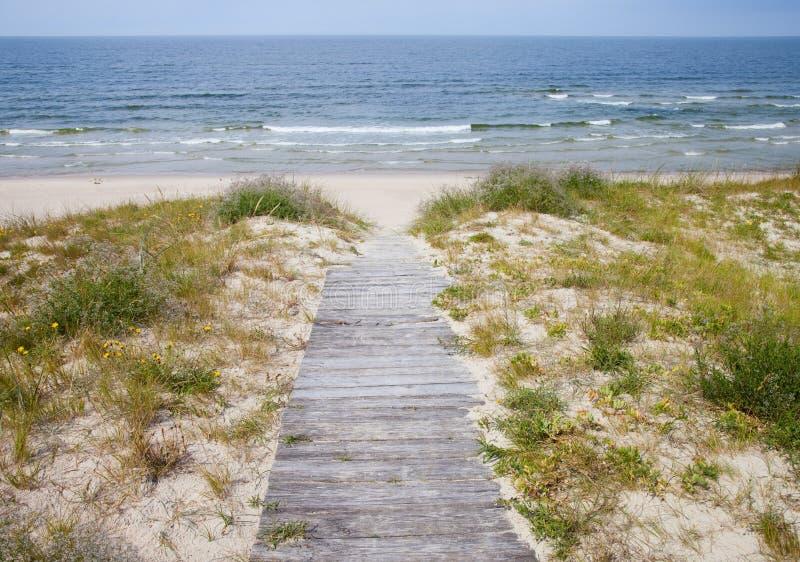 Droga morze zdjęcia stock