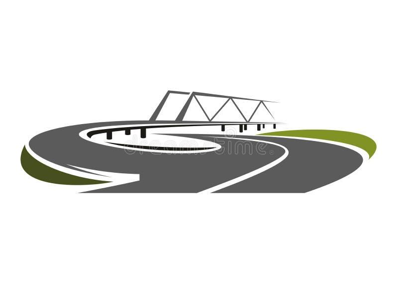 Droga most nad prędkości autostrada ilustracja wektor
