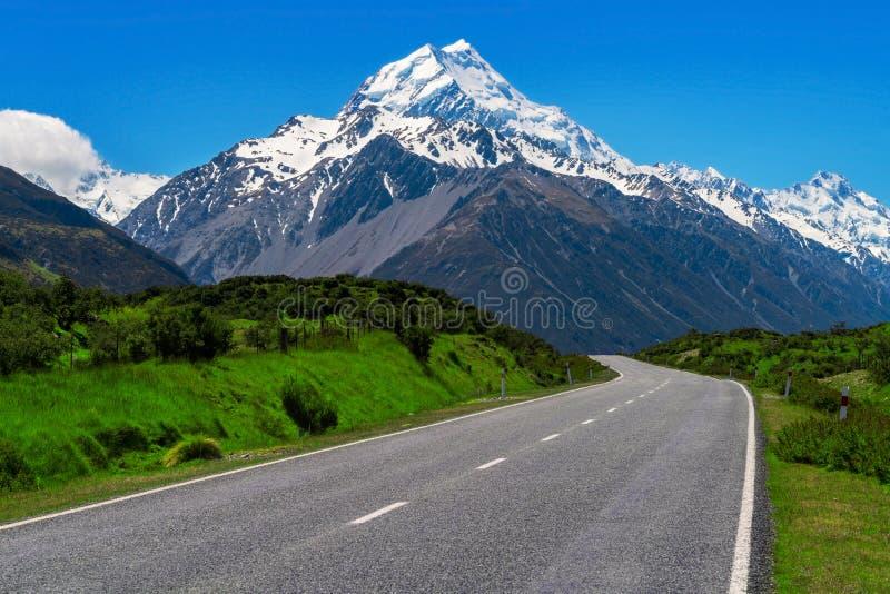 Droga Mt Cook, Nowa Zelandia obraz royalty free