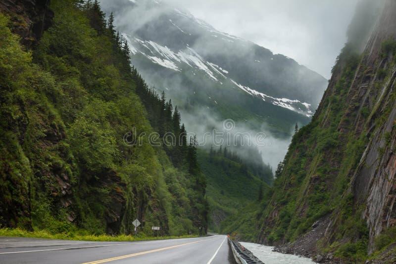 Droga na Alaska obraz royalty free