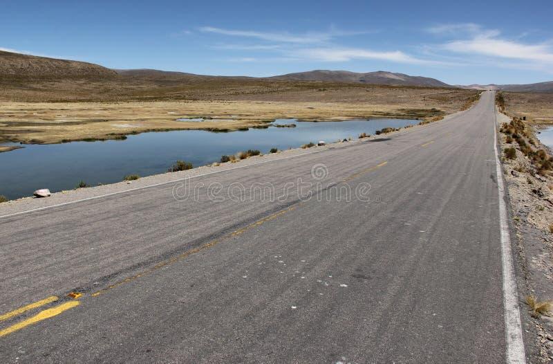 Droga na Altiplano obrazy royalty free