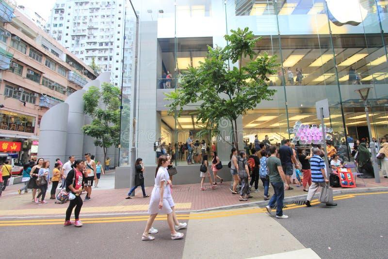 Droga na grobli podpalany uliczny widok w Hong Kong zdjęcie royalty free