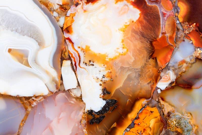 Droga naturalna agat tekstura z elegancką powierzchnią fotografia stock