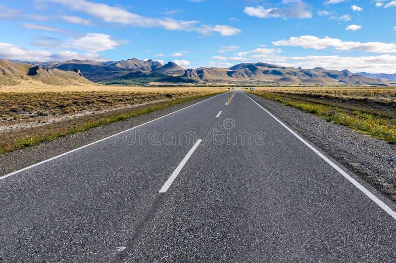 Droga nieskończoność Siedem jezior, Argentyna obrazy stock