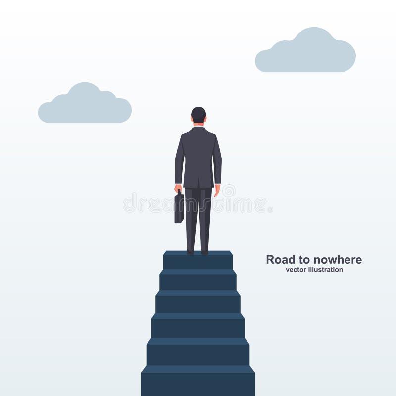 Droga nigdzie ląduje stronę ilustracja wektor