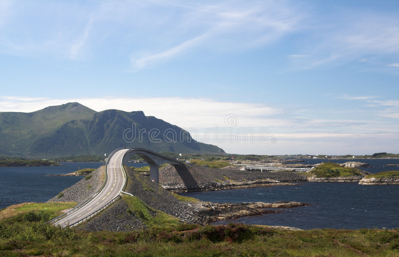 droga Norway tajemnicy atlantyku zdjęcie royalty free