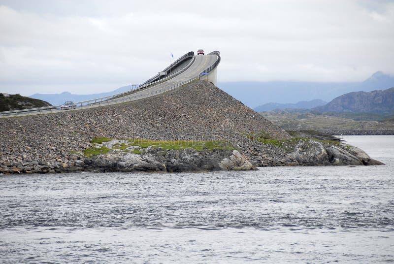 droga Norway tajemnicy atlantyku obraz stock