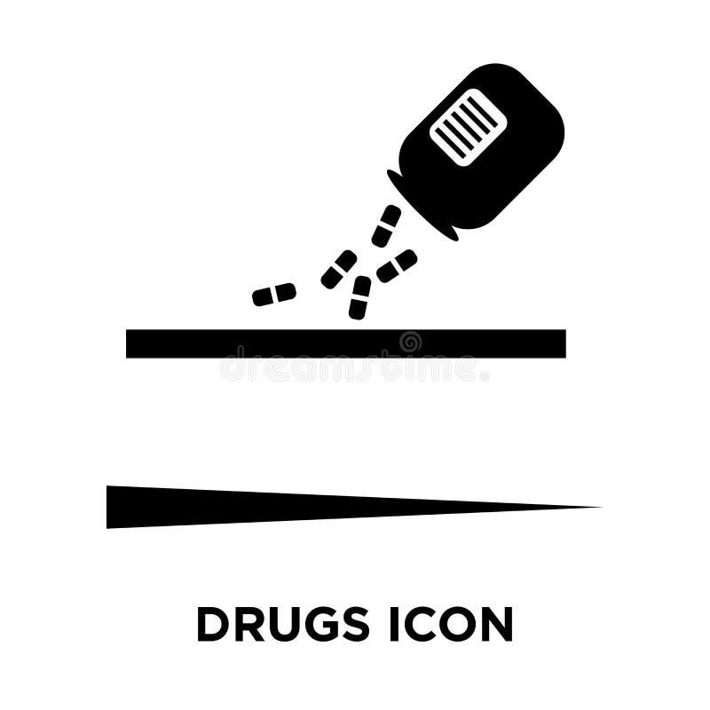 Droga o vetor do ícone isolado no fundo branco, conceito do logotipo de ilustração stock
