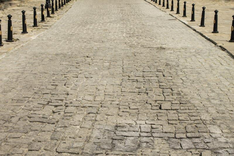 Droga od brukowych kamieni obraz royalty free