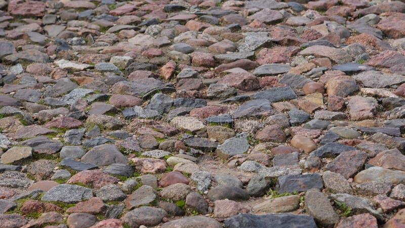 Droga od naturalnego kamienia zdjęcie stock