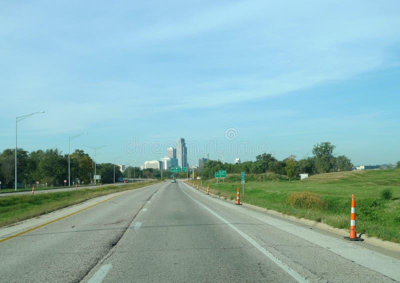 Droga Omaha obrazy stock