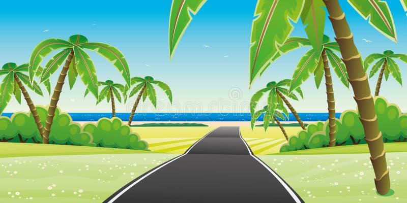 Droga plaża ilustracji