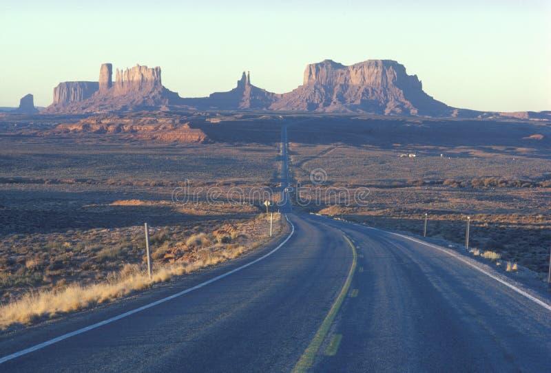 Droga Pomnikowa Dolina, Utah zdjęcia royalty free